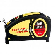 Boloboc Nivela Laser Ruleta 5.5m Level Pro 3 LV07