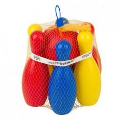 Set bowling pentru copii, 6 popice, 1 bila, multicolor