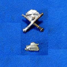Insigne militar- SEMNE ARMA REGALISTE ARTILERIE+TANCHIS -epolet-cascheta