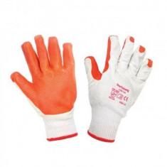 Manusi de protectie cauciuc portocaliu cu manson elastic Top Strong