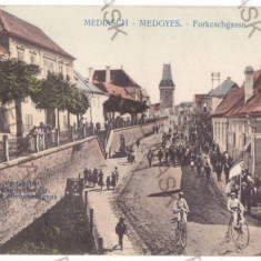 4471 - MEDIAS, Sibiu, Bike, Velociped, Romania - old postcard - used - 1916