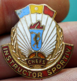 I.160 INSIGNA ROMANIA CNEFS INSTRUCTOR SPORTIV h22mm email