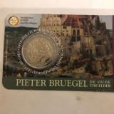Moneda BELGIA 2 euro comemorativa 2019_P. BRUEGHEL, coin card, Europa, Cupru-Nichel