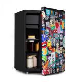 Klarstein Cool Vibe 70+, frigider, A+, 70 litri, VividArt Concept, stil stickerbomb