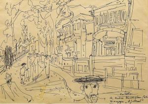 """Grafica in tus - Tia Peltz - La Sinagoga """"Ajutorul"""""""