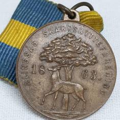 Medalie veche VANATOARE premiu locul 3 - decoratie Rara Norvegia