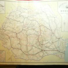 Harta Cailor Ferate din RSR 1977 , dim.= 47x34,5 cm
