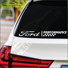 Ford Performance Model 2-Stickere Auto Cod: MOV-165 -Dim :     25 cm. x 2.8 cm.