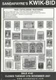 Sandafayre 2007 Auction book no. 4142, 27.11.2007, 46 white-black pages