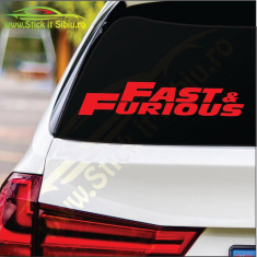Fast And Furious- Stickere Auto-Cod:MOV-252-Dim :  20 cm. x 4 cm.
