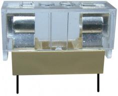 Soclu pentru sigurante 5x20mm, cu capac de protectie, pentru PCB - 122530 foto