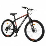 Bicicleta MTB-HT 26 inchVelors Poseidon CSV2609A negrurosu, Velors