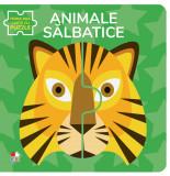 Animale sălbatice. Prima mea carte cu puzzle