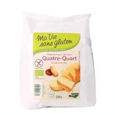 Amestec pentru Chec Patru Sferturi Fara Gluten Bio 300gr Ma Vie Sans Gluten Cod: 3380380084485