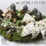 Universal 30cm/5cm suport inel din muschi verde aranjamente DIY