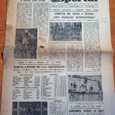 sportul 2 aprilie 1984-meciul u.craiova-dinamo 3-0,handbal chimistul rm.valcea