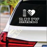 I Love Rally -Stickere Auto-Cod:ESV-227 -Dim    25 cm. x 17 cm.