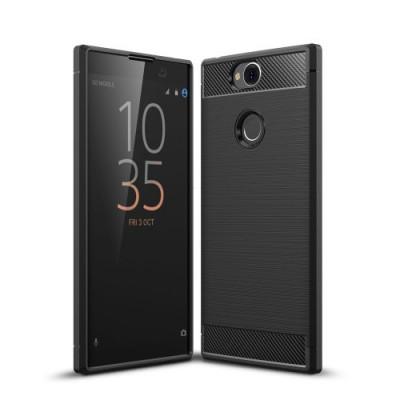 Husa Sony Xperia XA2 Plus TPU Carbon Neagra foto