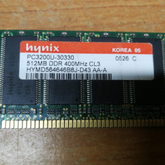 Ram PC Hynix 512MB DDR 400 MHz HYMD564646B8J-D43