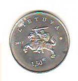 SV * Lituania  1.5 EURO  2017  (1 EURO 50 CENTS)      AUNC +