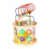 Cub educativ Montessori din lemn 7 in 1, cu activitati educative