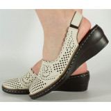 Pantofi nude perforati platforma 028642, 36, 37, 39