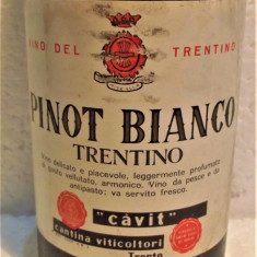 B 14- VIN PINOT BIANCO, TRENTINO, CAVIT, recoltare 1968 cl 68 gr 12