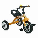 Tricicleta pentru copii, A28, roti mari, Golden Black, Lorelli
