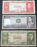 SV * Bolivia  LOT  10 - 100 - 1000  PESOS  1962     +/- VF
