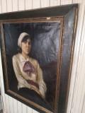 Cumpara ieftin Tablou vechi semnat Hollosy, Portrete, Ulei, Impresionism