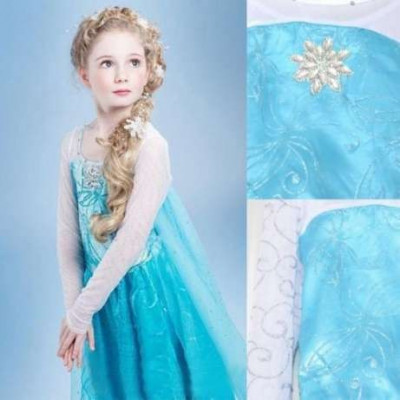 Rochita Elsa, Rochie Frozen, petrecere, 3, 4, 5, 6, 7 ani foto