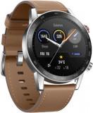 Smartwatch Honor Watch Magic 2, OLED 1.39inch, 32MB RAM, 4GB Flash, Bluetooth, Bratara piele, 46mm, Android/iOS (Maro)