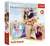 Cumpara ieftin Puzzle Trefl 3 in 1 Frozen2 Ana si Elsa
