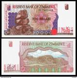 Bancnote Straine zimbabwe 5 dollars 1997 TTB/VF