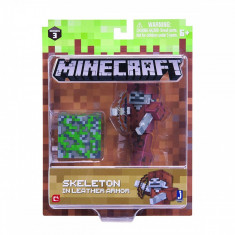Figurina Minecraft Skeleton in Leather Armor