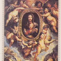 COTE DE IVOR, RUBENS,  PICTURA RELIGIOASA , COLITA MNH