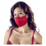 Masca Mask with Lace, Rosu