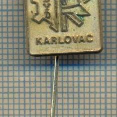 "Y 1266 INSIGNA -POMPIERI - ,,DYD"" KARLOVAC -IUGOSLAVIA- PENTRU COLECTIONARI"