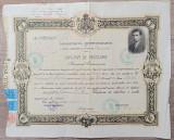 Diploma de absolvire Scoala Superioara de Comert Bucuresti, 1930