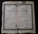Diploma licenta Drept 1946 Universitatea din Bucuresti
