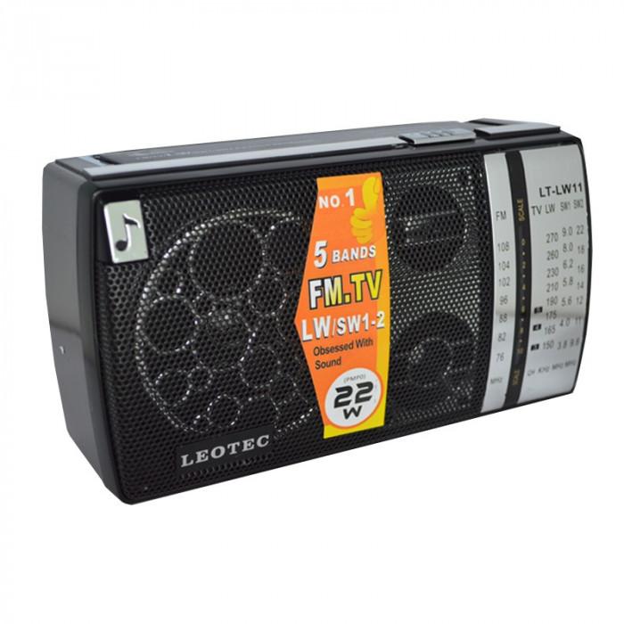 Radio portabil Leotec LT-LW11, 5 benzi, control bass