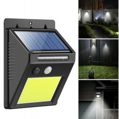 3 Lampi cu 20 de leduri - incarcare solara si senzor de miscare