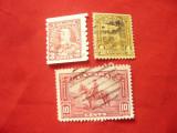 3 Timbre Canada 1935 - Rege Eduard V , val. 3 ,4 si 10C ,stampilat