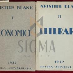 ARISTIDE BLANK ( DEDICXATIE SI AUTOGRAF ) - ECONOMICE / LITERARE , BUCURESTI 1932