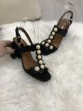 Sandale dama negre cu toc mic marime   39+CADOU