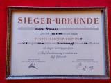 Certificat castigator Jocuri sportive Triatlon (Germania) din anul 1954