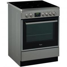 Aragaz electric ACMT 6533/IX, plita vitroceramica, 4 arzatoare, cuptor electric, 11 functii, 59 l, grill, clasa A, 60 cm, inox
