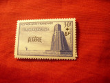 Serie Algeria colonie franceza 1952 supratipar Algerie / timbru francez monument, Nestampilat
