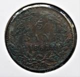 Romania 5 bani Carol I 1867 Heaton