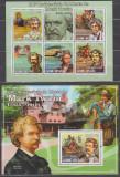 DB1 Literatura Guineea Mark Twain  SS +  MS MNH, Nestampilat